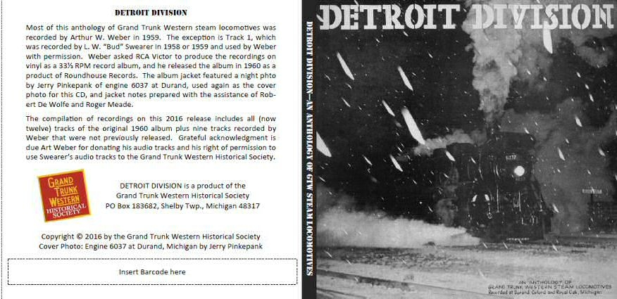 Audio CD - Detroit Division