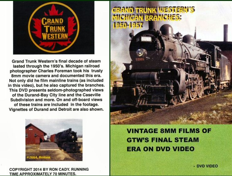 DVD - Grand Trunk Western's Michigan Branches